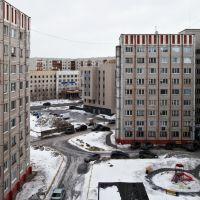 Из окна 7 этажа ул. Лермонтова 5/2. Сургут 06.04.11, Сургут