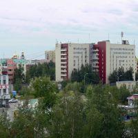 """Вид с правого балкона гостиницы """"Рассвет"""", Нефтеюганск"""