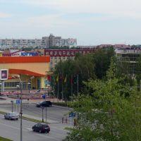 """Вид с левого балкона гостиницы """"Рассвет"""", Нефтеюганск"""