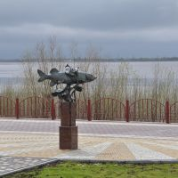 Pike sculpture, Нефтеюганск
