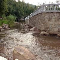 Речка Белокуриха в зоне курорта, Белокуриха