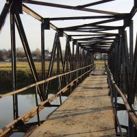 Пешеходный мост через р.Черемшанка в Белоярске, Белоярск