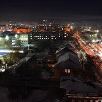 Персечение Гилёва & Льва Толстого. Night, Бийск