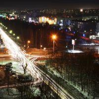 Пересечение Красноармейской & Коммунарского. Night, Бийск