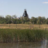 Вид на копер рудника (2007 год), Горняк