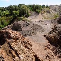 Galenite Demidoff pit in Zmeenogorsk., Змеиногорск