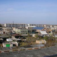View of railroad embankment (Street Krasnoarmeyskaya), Камень-на-Оби