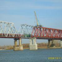 Строительство моста, Камень-на-Оби