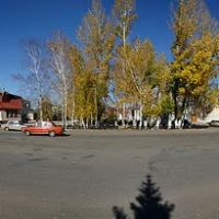 Russia, Altaysky Krai, Klyuchi; в центре села Ключи, Алтайский край, Россия, Ключи
