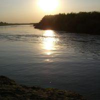 Закат на реке Чумыш, Кытманово