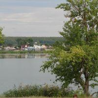 Павловский пруд, вид со стадиона., Павловск