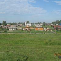 Вид с железной дороги на церковь, Тальменка