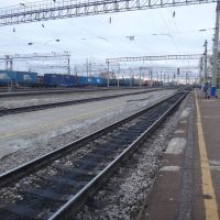 Станция Белогорск, Вид на запад, Белогорск
