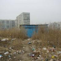 Туалет среди многоэтажной застройки, Благовещенск (Амурская обл.)