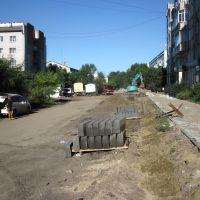 ремонт дороги, Благовещенск (Амурская обл.)