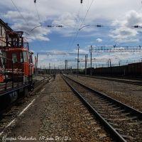 Железнодорожные пути в районе станции Ерофей Павлович  Tracks around station Erofey Pavlovich, Ерофей Павлович