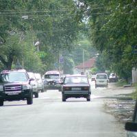 Трафик на главной улице города, Зея
