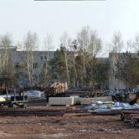 Построение деревянных солдат, казарма, клуб, плац, Магдагачи