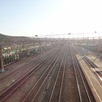 Станция Сковородино, Вид на восток, Сковородино