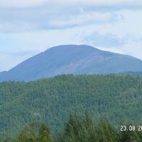 Гора Брюс вид из поселка, Экимчан