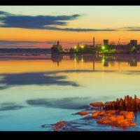 Ледоход  ночью, Архангельск
