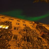 Северное сияние осенью, Архангельск