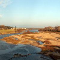 р.Вель осенью, вид с моста, Вельск