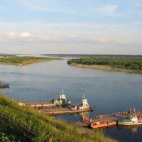 Severnaya Dvina River at Verkhnyaya Toyma, Верхняя Тойма