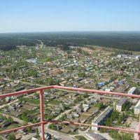 Плесецк с высоты примерно 200 метров, на мылнцу самсунг :))), Емца
