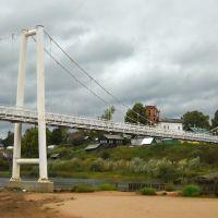 Пешеходный мост через реку Виледь, Ильинско-Подомское