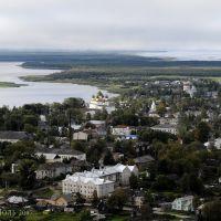 Вид на Каргополь и реку Онегу. 28.08.2007, Каргополь