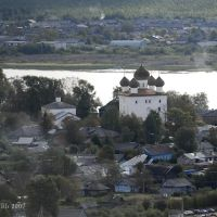 Вид на реку Онегу и Собор Рождества Христова 28.08.2007, Каргополь