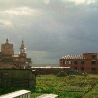 Карпогоры,дождь осенью, Карпогоры