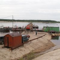 Понтонная переправа ЦБК р. Вычегда, Коряжма