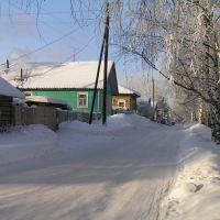 Набережная в Красноборске. Конец января., Красноборск