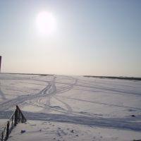 Вид на Печору со стороны Морского порта, Нарьян-Мар
