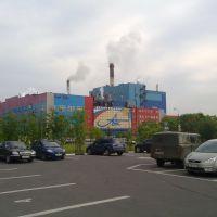 Новодвинск. Архангельский ЦБК / Arkhangelsk pulp-and-paper industrial complex in the Novodvinsk, Новодвинск