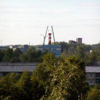 Вид из окна на стройку, Онега