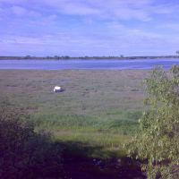 река Онега в момент отлива, Онега