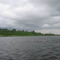 пос. Пинега с реки, Пинега
