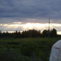 Закат на пруду, Пинега