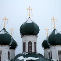 Купола, вид с колокольни, Сольвычегодск