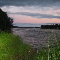 Вид на Вагу при закате солнца в августе, Шенкурск