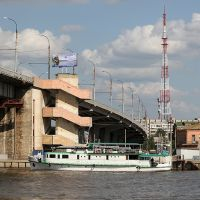 Bridge Over the Volga, Astrakhan, Астрахань