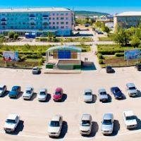 Вид на центральную площадь г.Баймак, со здания крыши администрации района, Баймак