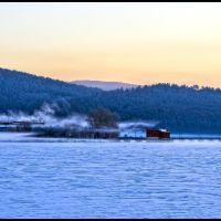 Белорецкий пруд перед восходом солнца.  (Beloretsk. Pond before sunrise), Белорецк