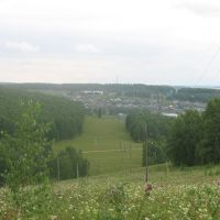 Вид на село с горы, Большеустьикинское