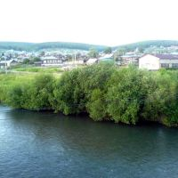 Вид с моста через реку Ик, Большеустьикинское
