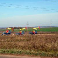 нефтяные вышки, Верхние Татышлы
