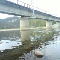 жд мост через соединений рек: малый и большой Инзер, Инзер